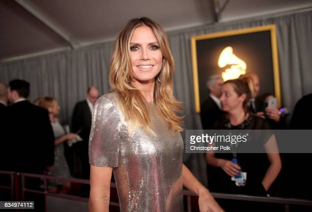 TV personality Heidi Klum attends The 59th GRAMMY Awards at STAPLES Center on February 12 2017 in Los Angeles California