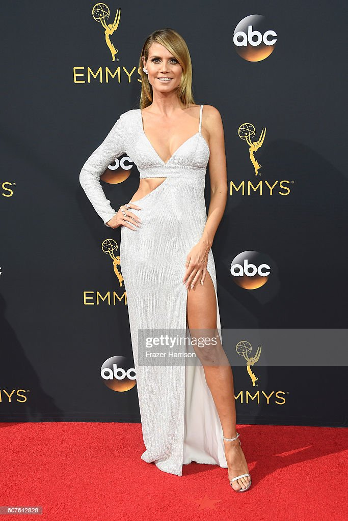 TV personality Heidi Klum attends the 68th Annual Primetime Emmy Awards at Microsoft Theater on September 18, 2016 in Los Angeles, California.