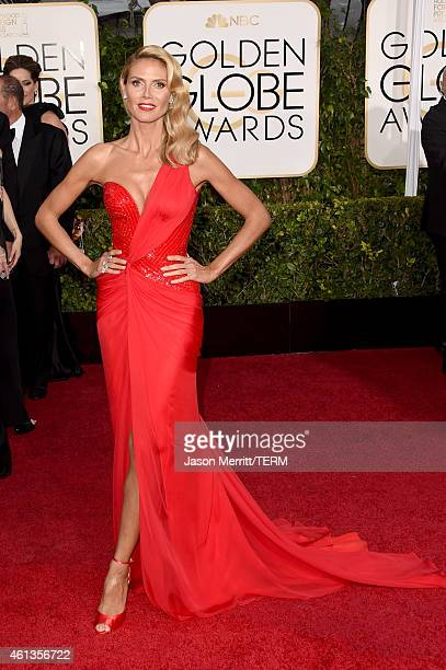 Personality Heidi Klum attends the 72nd Annual Golden Globe Awards at The Beverly Hilton Hotel on January 11 2015 in Beverly Hills California