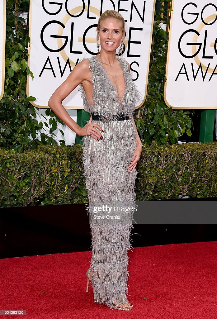 TV personality Heidi Klum attends the 73rd Annual Golden Globe Awards held at the Beverly Hilton Hotel on January 10, 2016 in Beverly Hills, California.