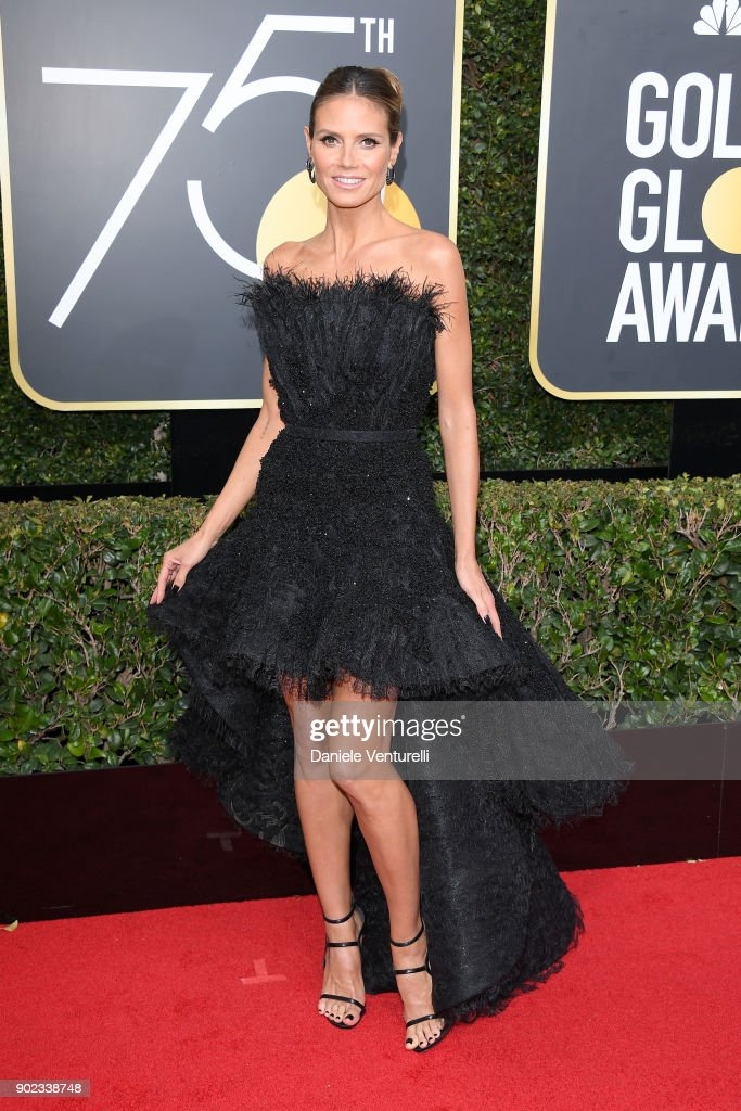 TV Personality Heidi Klum attends The 75th Annual Golden Globe Awards at The Beverly Hilton Hotel on January 7, 2018 in Beverly Hills, California.