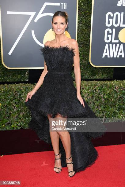 Personality Heidi Klum attends The 75th Annual Golden Globe Awards at The Beverly Hilton Hotel on January 7 2018 in Beverly Hills California