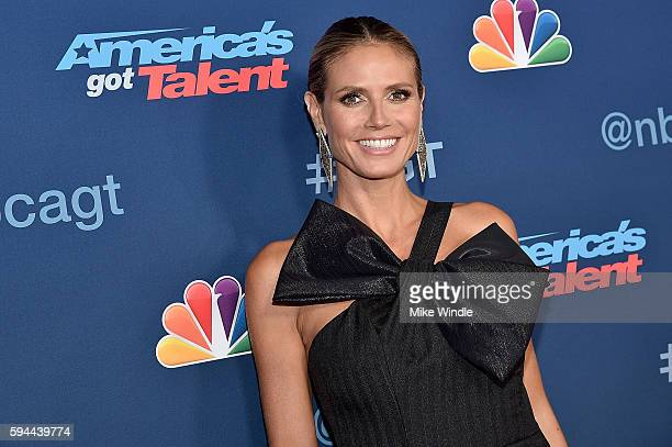 Personality Heidi Klum attends the America's Got Talent Season 11 Live Show at Dolby Theatre on August 23 2016 in Hollywood California