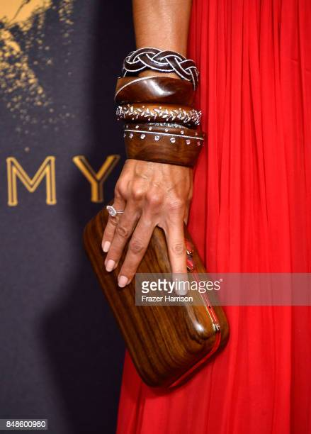 TV personality Heidi Klum fashion detail attends the 69th Annual Primetime Emmy Awards at Microsoft Theater on September 17 2017 in Los Angeles...