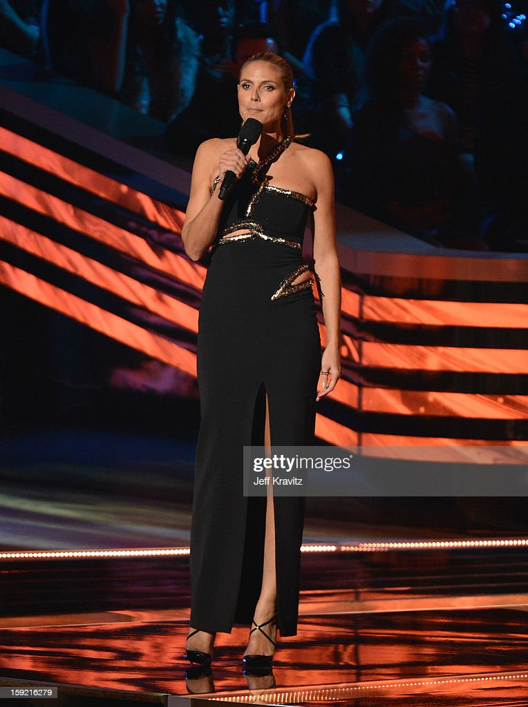 TV personality Heidi Klum onstage during the 2013 People's Choice Awards at Nokia Theatre L.A. Live on January 9, 2013 in Los Angeles, California.