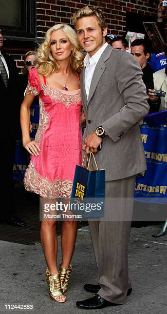 TV personality Heidi Montag and beau Spencer Pratt visit 'The Late Show With David Letterman' on April 30 2008 in New York City New York