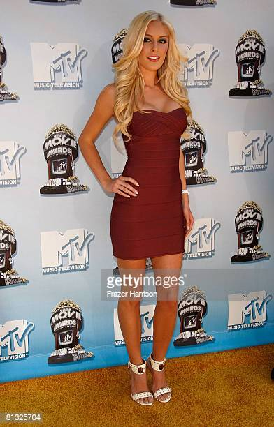 TV personality Heidi Montag arrives at the 17th annual MTV Movie Awards held at the Gibson Amphitheatre on June 1 2008 in Universal City California