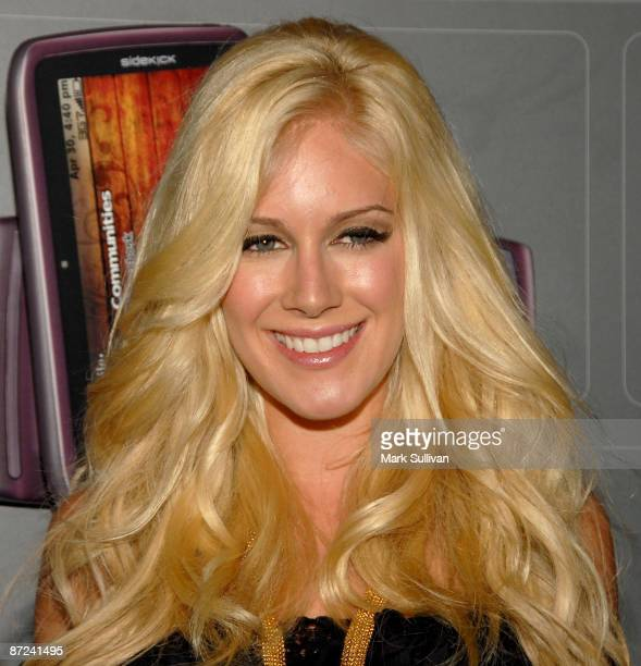 TV personality Heidi Montag arrives at the TMobile Sidekick LX Launch held at Paramount Studios on May 14 2009 in Hollywood California