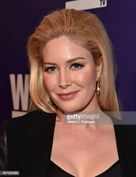 TV personality Heidi Montag attends the WE tv presents The Evolution of The Relationship Reality Show at The Paley Center for Media on March 19 2015...
