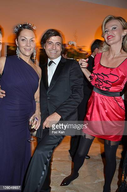 TV personality Hermine de Clermont Tonnerre hair stylist Alexandre Zouari and Florentine Leconte attend 'The Bests' Awards 2010 Ceremony at the...