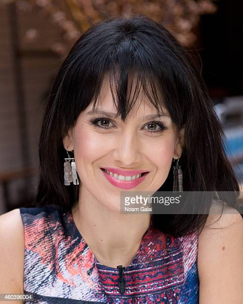 TV personality Hilaria Baldwin poses on the set of 'The You Crew' on November 24 2014 in New York City