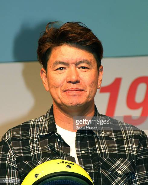 TV personality Hiromi attends the BIKE O COMPANY press conference at Yebisu Garden Place on August 18 2014 in Tokyo Japan