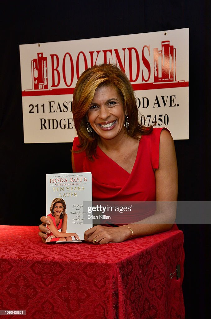 TV personality Hoda Kotb signs copies of her book 'Ten Years Later' at Bookends on January 17, 2013 in Ridgewood, New Jersey.