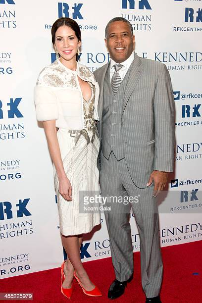 TV Personality Hope Dworaczyk and Chair of RFK Center Board of Trustees Robert Smith attend 2013 Ripple of Hope Awards Dinner at New York Hilton on...