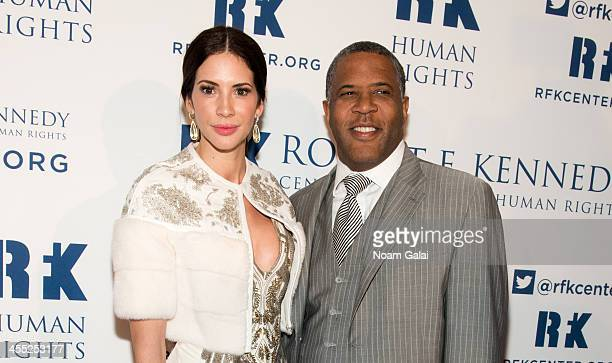 Personality Hope Dworaczyk and Chair of RFK Center Board of Trustees Robert Smith attend 2013 Ripple of Hope Awards Dinner at New York Hilton on...