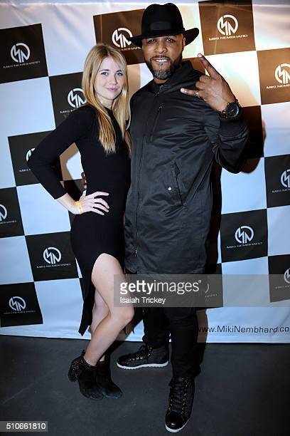 Personality / host Greg Stokes and actress Sarah Fisher attend the Allstar Champions Gala at Exhibition Grounds on February 13 2016 in Toronto Canada