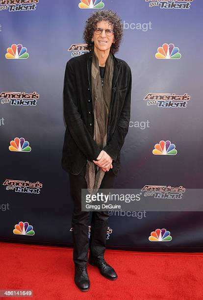 TV personality Howard Stern arrives at 'America's Got Talent' red carpet event at the Dolby Theatre on April 22 2014 in Hollywood California