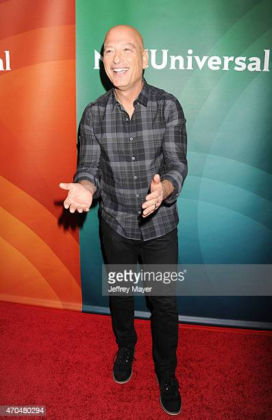 Personality Howie Mandel attends the 2015 NBCUniversal Summer Press Day held at the The Langham Huntington Hotel and Spa on April 02, 2015 in...