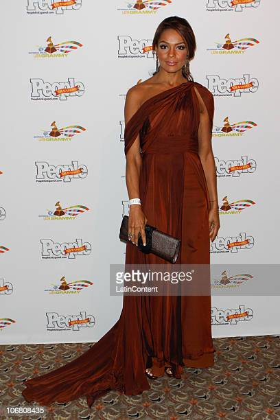 TV personality Ilia Calderon arrives at the People en Espanol Celebrity Lounge after party at the 11th annual Latin GRAMMY Awards at the Mandalay Bay...