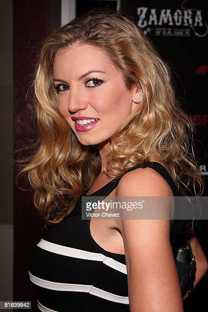 Personality Isabel Madow attends the En la Oscuridad premiere at Plaza Reforma on June 19 2008 in Mexico City Mexico