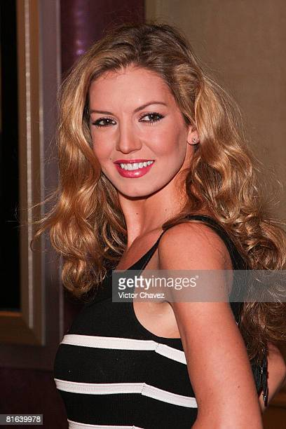 Personality Isabel Madow attends the En la Oscuridad premiere at Plaza Reforma on June 20 2008 in Mexico City Mexico