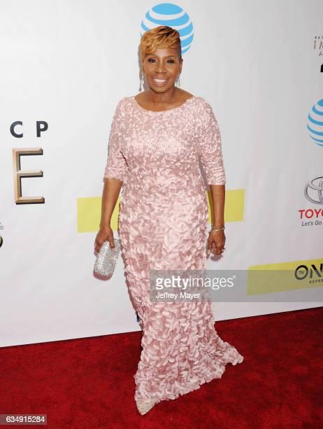 TV personality Iyanla Vanzant arrives at the 48th NAACP Image Awards at Pasadena Civic Auditorium on February 11 2017 in Pasadena California
