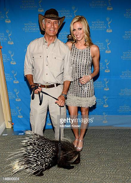 Personality Jack Hanna and Deborah Gibson pose during The 39th Annual Daytime Emmy Awards broadcasted on HLN held at The Beverly Hilton Hotel on June...
