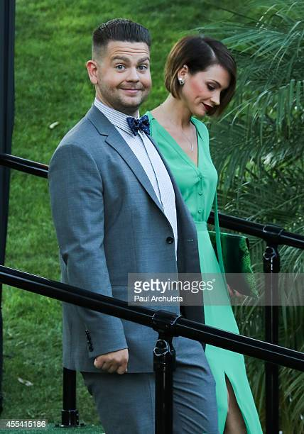 Personality Jack Osbourne and Actress Lisa Stelly attend the annual Summer Spectacular Under The Stars for the Brent Shapiro foundation for alcohol...