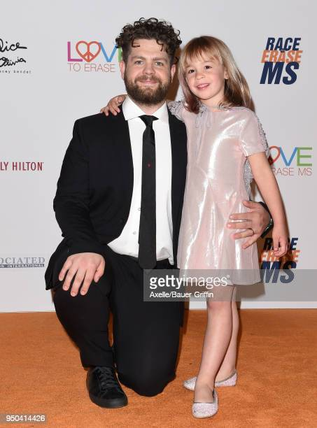 TV personality Jack Osbourne and daughter Pearl Osbourne arrive at the 25th Annual Race to Erase MS Gala at The Beverly Hilton Hotel on April 20 2018...