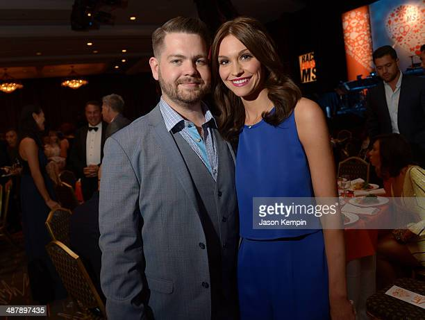 TV personality Jack Osbourne and Lisa Stelly attend the 21st annual Race to Erase MS at the Hyatt Regency Century Plaza on May 2 2014 in Century City...