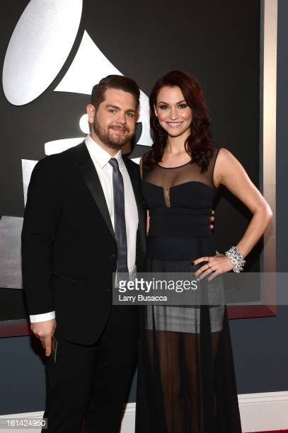 TV personality Jack Osbourne and Lisa Stelly attend the 55th Annual GRAMMY Awards at STAPLES Center on February 10 2013 in Los Angeles California