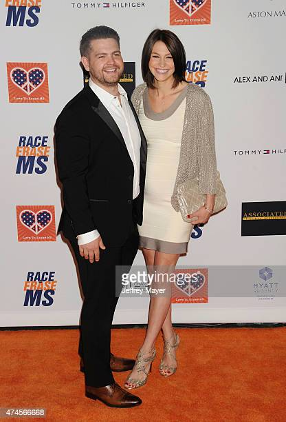 TV personality Jack Osbourne and wife Lisa Osbourne arrive at the 22nd Annual Race To Erase MS at the Hyatt Regency Century Plaza on April 24 2015 in...