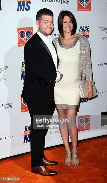 TV personality Jack Osbourne and wife Lisa Osbourne attend the 22nd Annual Race to Erase MS event at the Hyatt Regency Century Plaza on April 24 2015...