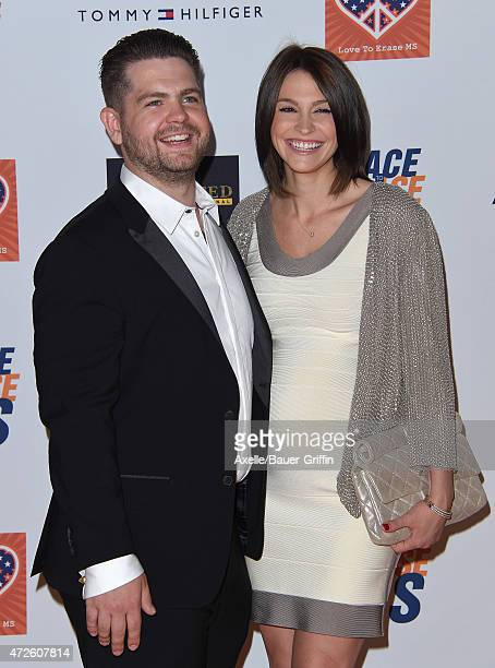 TV personality Jack Osbourne and wife Lisa Stelly arrive at the 22nd Annual Race To Erase MS at the Hyatt Regency Century Plaza on April 24 2015 in...
