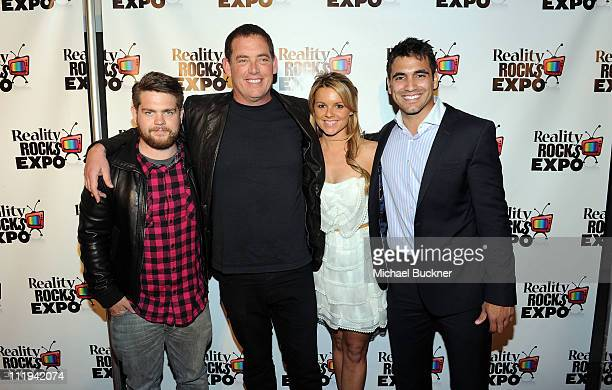 TV personality Jack Osbourne producer Mike Fleiss and TV personalities Ali Fedotowsky and Roberto Martinez attend the Reality Rocks Expo Fan Awards...