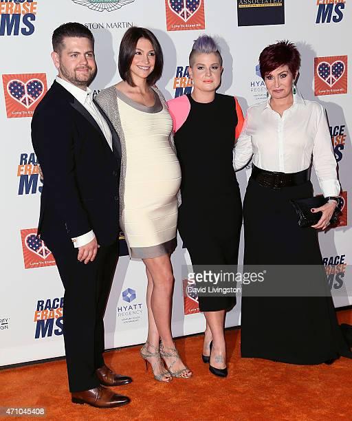 TV personality Jack Osbourne wife Lisa Osbourne sister TV personality Kelly Osbourne and mother TV personality Sharon Osbourne attend the 22nd Annual...