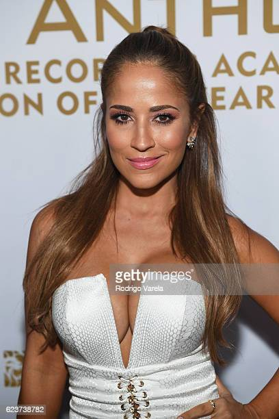 TV personality Jackie Guerrido attends the 2016 Person of the Year honoring Marc Anthony at the MGM Grand Garden Arena on November 16 2016 in Las...