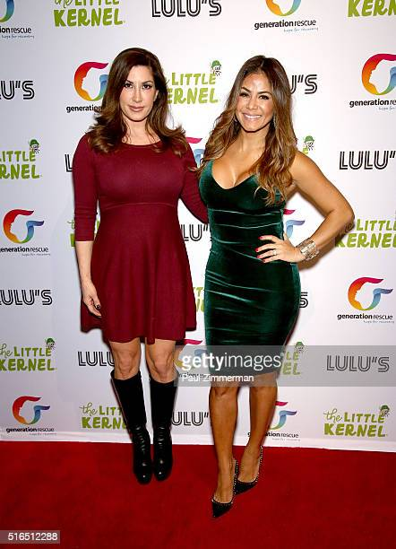 TV personality Jacqueline Laurita and Karla De Epstein attend the Chris Laurita Celebrates Launch of 'The Little Kernel' Mini Popcorn on March 18...