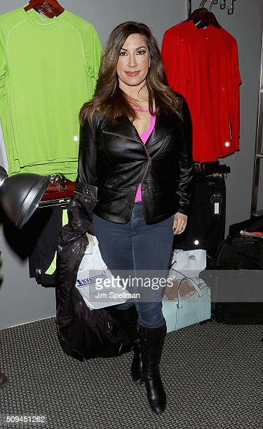 TV personality Jacqueline Laurita signs copies of 'Turning The Tables' at Bookends on February 10 2016 in Ridgewood New Jersey