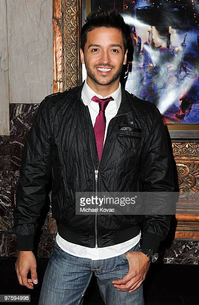 TV personality Jai Rodriguez attends the opening night of 'CATS' at the Pantages Theatre on March 9 2010 in Hollywood California