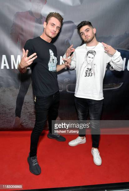 TV personality James Kennedy and Heart Rob attend the Los Angeles launch party for JamesKennedyshop at SUR Lounge on October 23 2019 in Los Angeles...