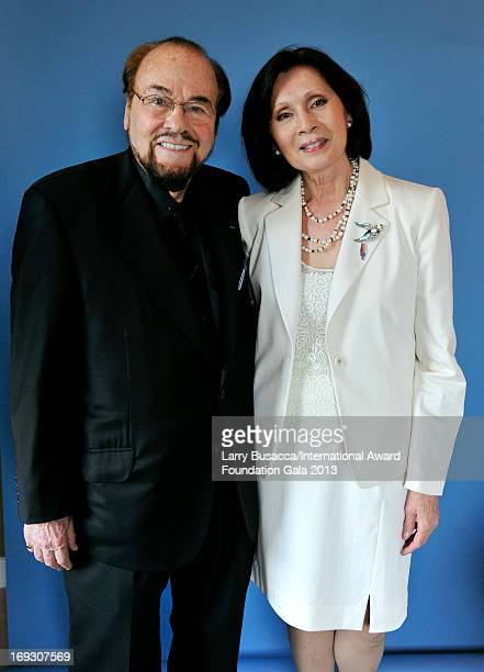 TV personality James Lipton and Kedakai Turner pose for a portrait during The Duke Of Edinburgh's International Award gala dinner at the Essex House...