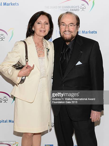 TV personality James Lipton and Kedakai Turner pose on the red carpet at The Duke Of Edinburgh's International Award gala dinner at the Essex House...