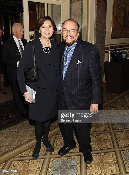 TV personality James Lipton and wife Kedakai Turner attend the 2015 New York City Center Gala Annie Get Your Gun Dinner at The Plaza Hotel on October...