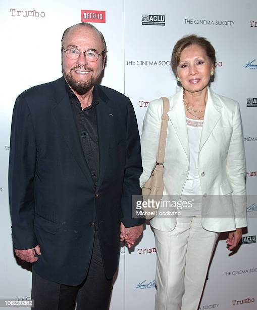 TV personality James Lipton and wife Kedakai Turner attend The Cinema Society and ACLU's screening of Trumbo on June 16 2008 at Tribeca Cinemas in...
