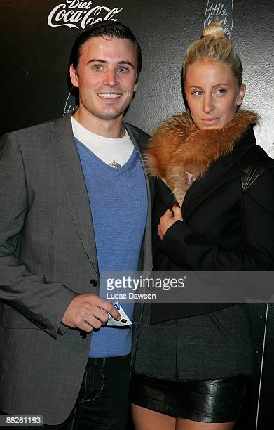 TV personality James Tobin and guest attend the Diet CocaCola Little Black Dress Show on the catwalk at the Overseas Passenger Terminal Circular Quay...
