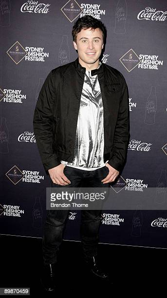 Personality James Tobin attends the Diet CocaCola Little Black Dress show at Rosemount Sydney Fashion Festival 2009 at Martin Place Collection...