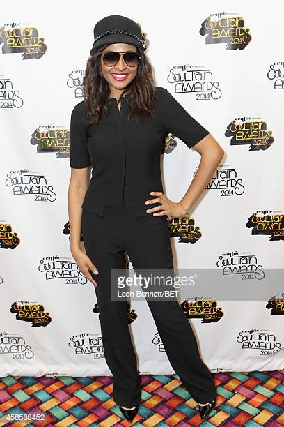 TV personality Janell Snowden attends day 2 of the 2014 Soul Train Music Awards Gifting Suite at the Orleans Arena on November 7 2014 in Las Vegas...