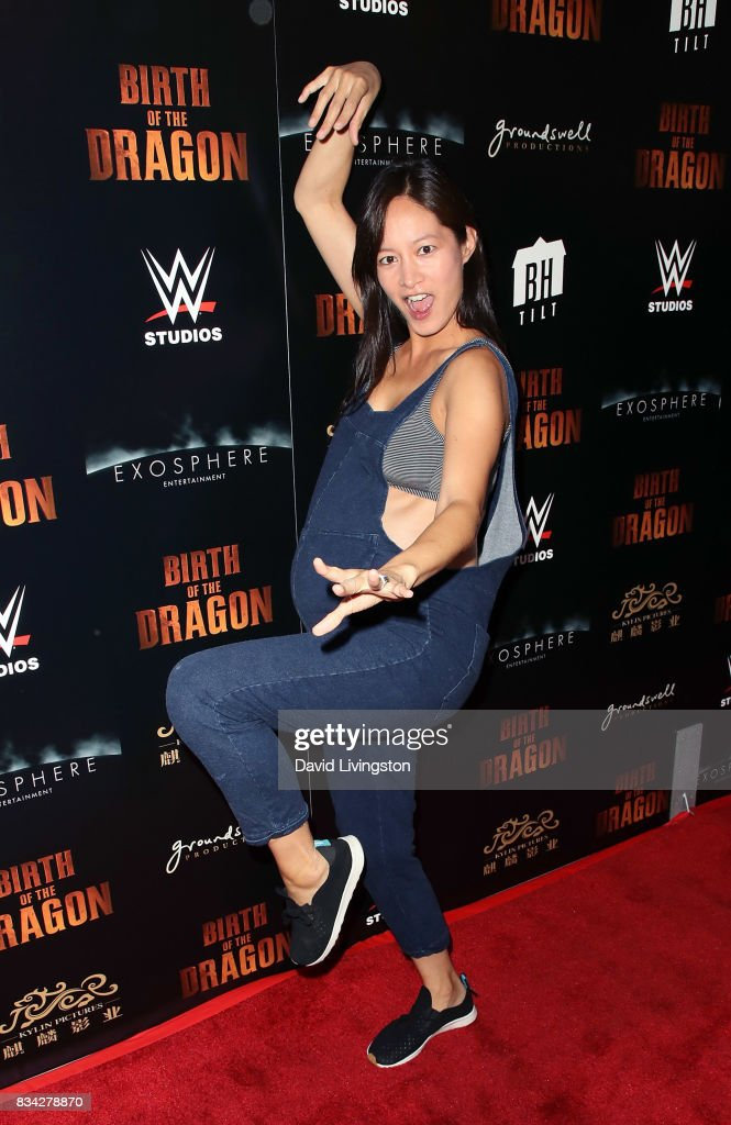 TV personality Janet Hsieh attends the premiere of WWE Studios' 'Birth of the Dragon' at ArcLight Hollywood on August 17, 2017 in Hollywood, California.