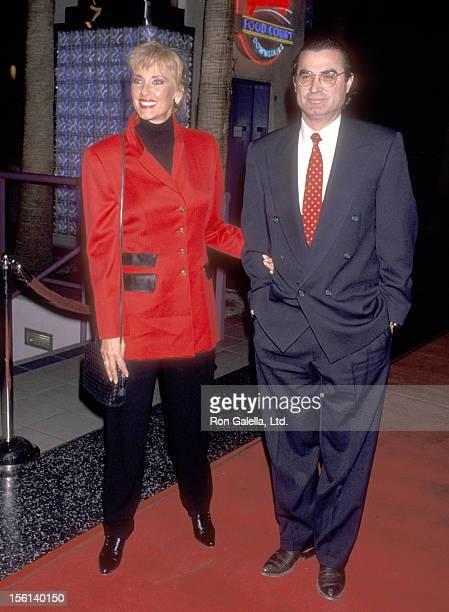 TV Personality Janice Pennington and husband Carlos De Abreu attend the Screening of the MadeforTV Movie 'Out of Darkness' on January 12 1994 at...